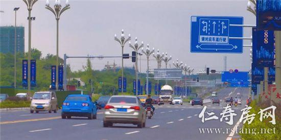 好消息!仁寿城区又一新道路开始试用~