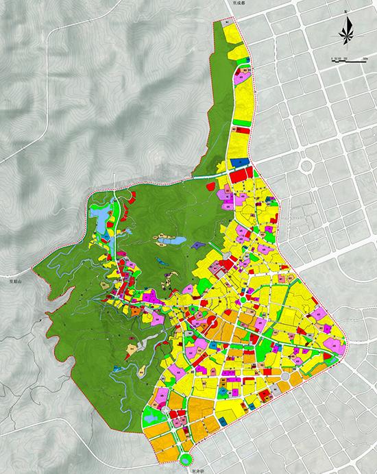 仁寿县旧城区控规用地布局规划图